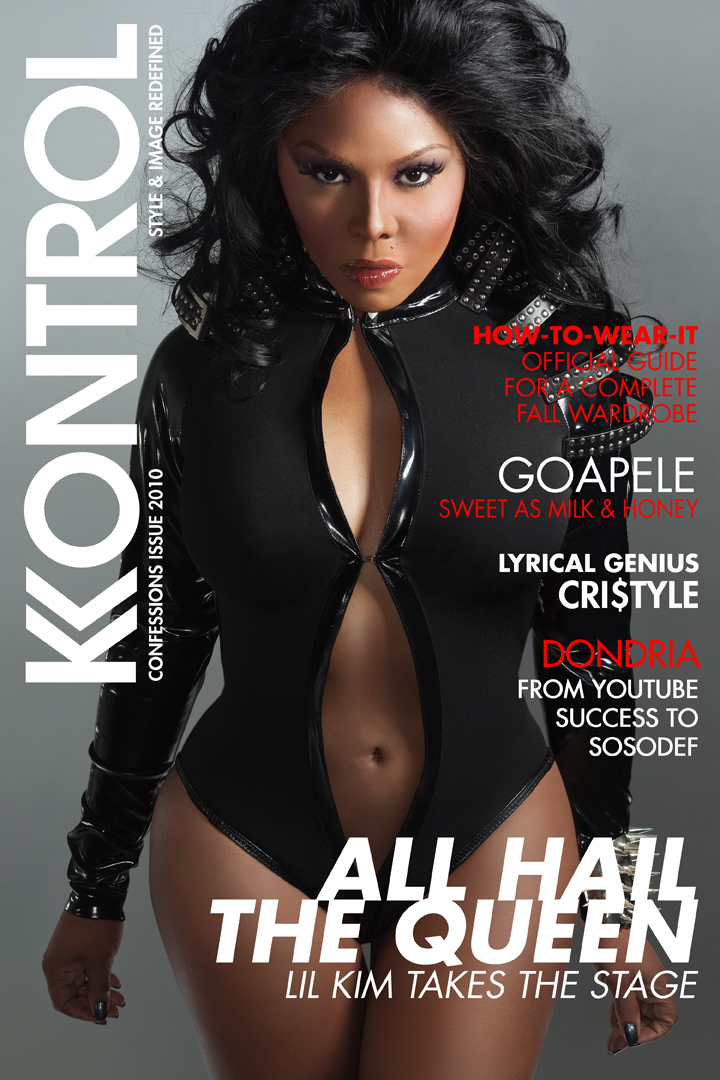 Lil' Kim Lets It All Hang Out in Kontrol Magazine