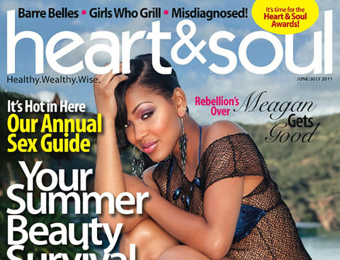 Meagan Good Brings Her Sexy to Heart and Soul Magazine