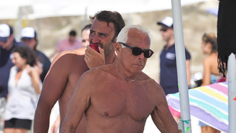 77 Year Old Giorgio Armani Rocks a Speedo