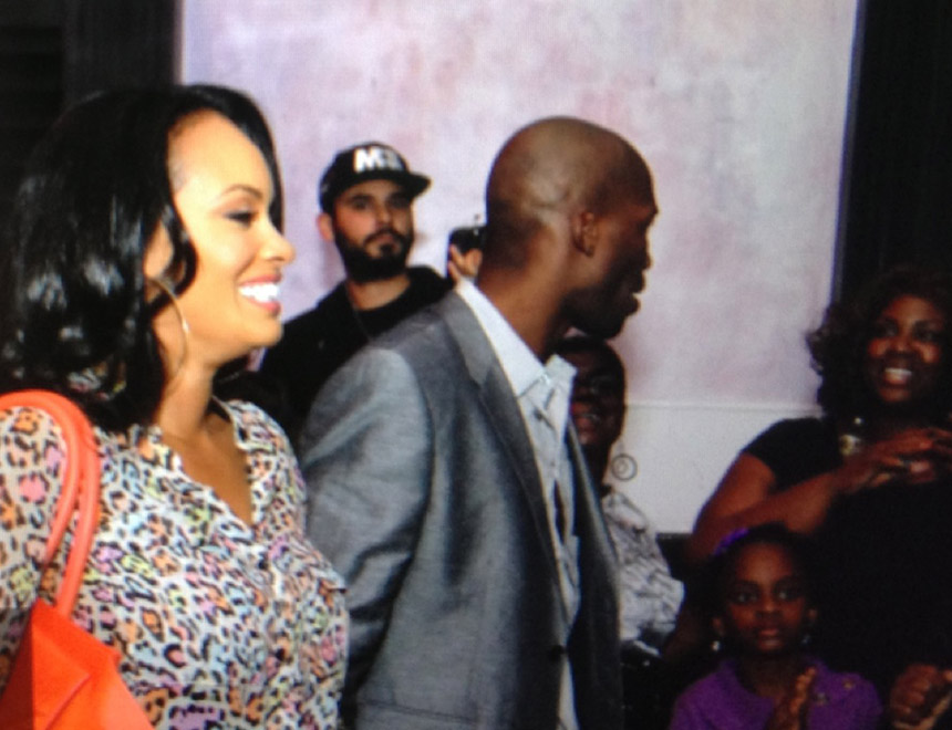 Chad Johnson and Evelyn Lozada