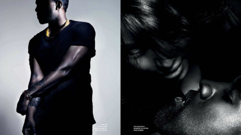Kim Kardashian and Kanye West for L'Officiel Hommes Paris Spring 2013