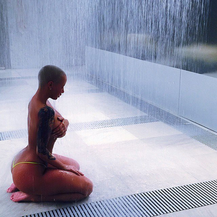 Amber-Rose-Topless-Rain