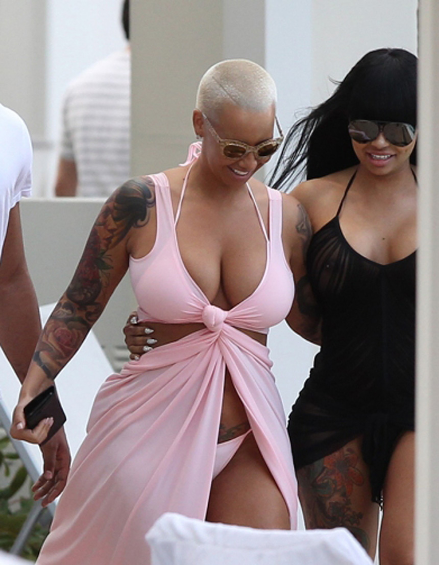 amber rose with black chyna