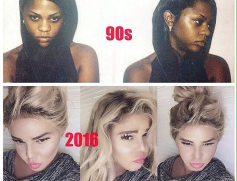 Lil' Kim Completes Her Transformation Into a White Woman