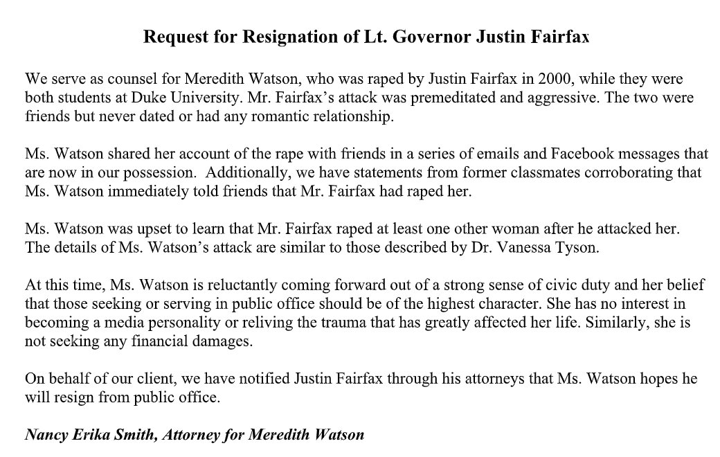 Justin Fairfax 2nd Accuser